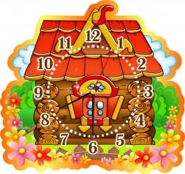 Купить Часы настенные кварцевые в группу Теремок 380*360 мм в России от 726.00 ₽