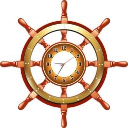 Купить Часы Фигурные Штурвал, размер 900*900 мм в России от 2989.00 ₽