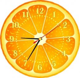 Купить Часы настенные кварцевые Апельсинка 270*270 мм в России от 653.00 ₽