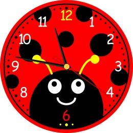 Купить Часы настенные кварцевые Божья коровка 250*250 мм в России от 622.00 ₽