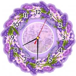 Купить Часы настенные кварцевые c лавандой 290*290 мм в России от 697.00 ₽