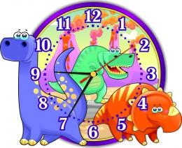 Купить Часы настенные кварцевые Динозаврики 310*250мм в России от 674.00 ₽