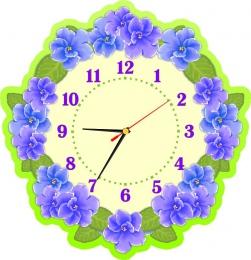 Купить Часы настенные кварцевые для группы Фиалка 390*400 мм в России от 775.00 ₽