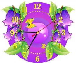Купить Часы настенные кварцевые для группы Колокольчик  290*240 мм в России от 674.00 ₽
