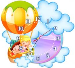 Купить Часы настенные кварцевые для группы Почемучки 370*340 мм в России от 725.00 ₽