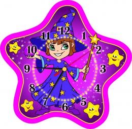Купить Часы настенные кварцевые для группы Волшебники 340*330 мм в России от 725.00 ₽