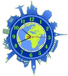 Купить Часы настенные кварцевые Достопримечательности мира 350*360 мм в России от 702.00 ₽