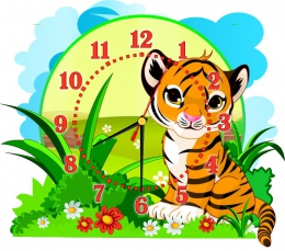 Купить Часы настенные кварцевые Джунгли с Тигренком 400*350 мм в России от 777.00 ₽