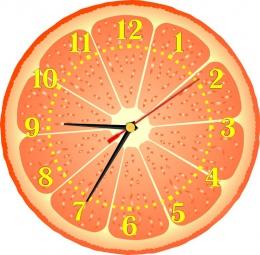 Купить Часы настенные кварцевые Грейфрут 250*250 мм в России от 604.00 ₽