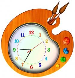 Купить Часы настенные кварцевые Краски 430*440мм в России от 1212.00 ₽