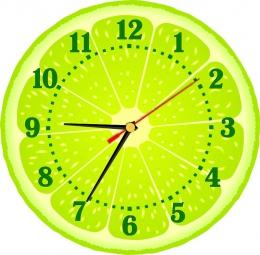 Купить Часы настенные кварцевые Лайм 250*250 мм в России от 604.00 ₽