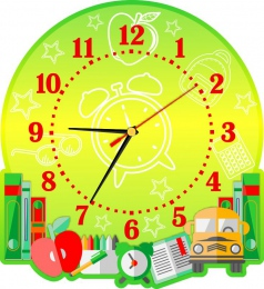 Купить Часы настенные кварцевые на школьную тематику 270*300 мм в России от 653.00 ₽