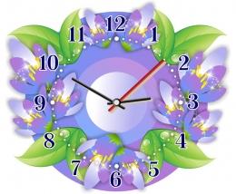 Купить Часы настенные кварцевые Подснежники 280*240 мм в России от 653.00 ₽