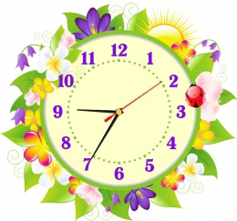 Купить Часы настенные кварцевые с цветами  370*350 мм в России от 702.00 ₽