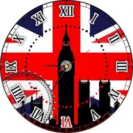 Купить Часы настенные кварцевые в кабинет английского языка 400*400 мм в России от 814.00 ₽