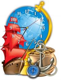 Купить Часы настенные кварцевые в кабинет географии 370*480мм. в России от 888.00 ₽