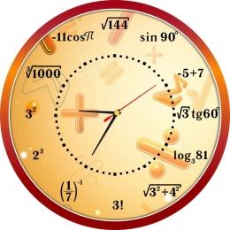 Купить Часы настенные кварцевые в кабинет математики с формулами 390*390 мм в России от 814.00 ₽