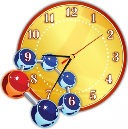 Купить Часы настенные кварцевые в кабинет химии 290*290мм в России от 653.00 ₽