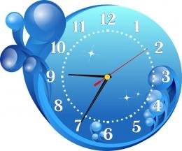 Купить Часы настенные кварцевые в морском стиле 300*260 мм в России от 674.00 ₽