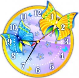 Купить Часы настенные кварцевые в стиле группы Бабочка 270*270 мм в России от 674.00 ₽
