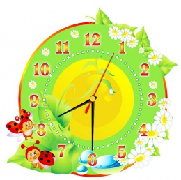 Купить Часы настенные кварцевые в стиле группы Божья коровка 300*300 мм в России от 674.00 ₽