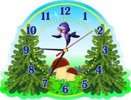 Купить Часы настенные кварцевые в стиле группы Елочка 320*250 мм в России от 604.00 ₽