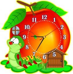 Купить Часы настенные кварцевые в стиле группы Гусеничка 350*360 мм в России от 725.00 ₽