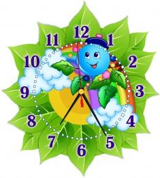Купить Часы настенные кварцевые в стиле группы Капитошка  270*300 мм в России от 674.00 ₽
