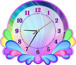 Купить Часы настенные кварцевые в стиле группы Карапузики 350*300мм в России от 721.00 ₽