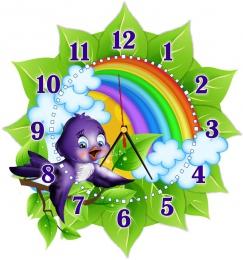 Купить Часы настенные кварцевые в стиле группы Ласточка 360*390 мм в России от 725.00 ₽