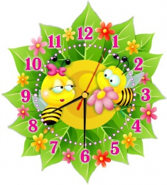 Купить Часы настенные кварцевые в стиле группы Пчёлка 270*300 мм в России от 674.00 ₽