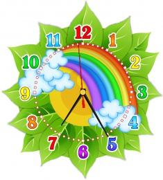 Купить Часы настенные кварцевые в стиле группы Радуга 270*300мм в России от 674.00 ₽