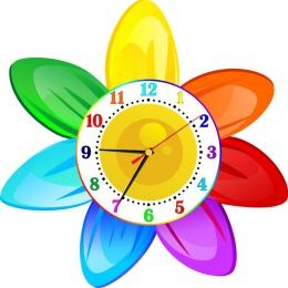 Купить Часы настенные кварцевые в стиле группы Семицветик 350*350 мм в России от 725.00 ₽