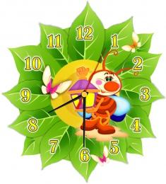 Купить Часы настенные кварцевые в стиле группы Светлячки 270*300 мм в России от 674.00 ₽