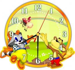 Купить Часы настенные кварцевые в стиле группы Улыбка 270*250мм в России от 674.00 ₽