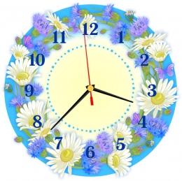 Купить Часы настенные кварцевые в стиле группы Василёк 270*270 мм в России от 674.00 ₽