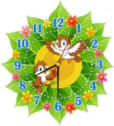 Купить Часы настенные кварцевые в стиле группы Воробушек 270*300 мм в России от 653.00 ₽