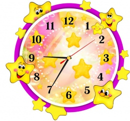 Купить Часы настенные кварцевые в стиле группы Звёздочки 340*320 мм в России от 699.00 ₽