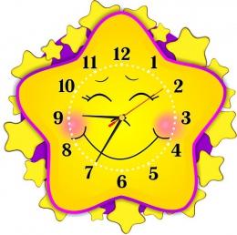 Купить Часы настенные кварцевые в стиле группы Звёздочки 400*400 мм в России от 803.00 ₽