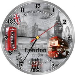 Купить Часы настенные кварцевые в стиле Лондон с достопримечательностями 250*250 мм в России от 604.00 ₽