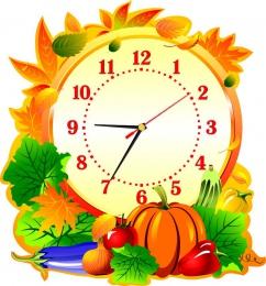 Купить Часы настенные кварцевые в стиле Осень для столовой  370*400 мм в России от 775.00 ₽