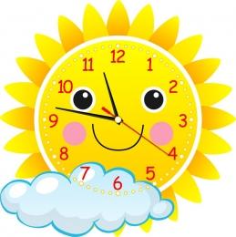 Купить Часы настенные кварцевые в виде Солнышка 400*400 мм в России от 775.00 ₽