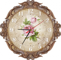 Купить Часы настенные кварцевые в Винтажном стиле 310*310 мм в России от 653.00 ₽