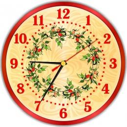 Купить Часы настенные кварцевые в Винтажном стиле в золотисто-красных тонах 250*250 мм в России от 604.00 ₽