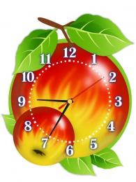 Купить Часы настенные кварцевые Яблочки 290*370мм в России от 721.00 ₽