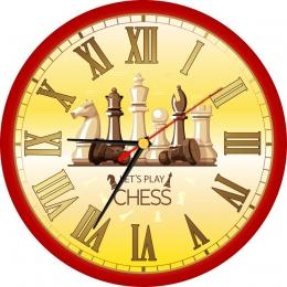 Купить Часы с шахматами 250*250 мм в России от 604.00 ₽