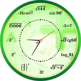 Купить Часы в кабинет математики 400*400 мм в России от 790.00 ₽