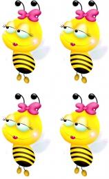 Купить Декоративные наклейки Пчелки 24 шт. размер 58*97 мм в России от 236.00 ₽
