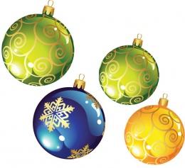 Купить Двухсторонние фигурные элементы Новогодние шарики ,размер 103х120 и 84х98 мм 27 шт в России от 1465.00 ₽