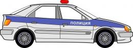 Купить Фигурный двухсторонний элемент для оформления детской площадки и группы  Машина полиции в России от 3427.00 ₽